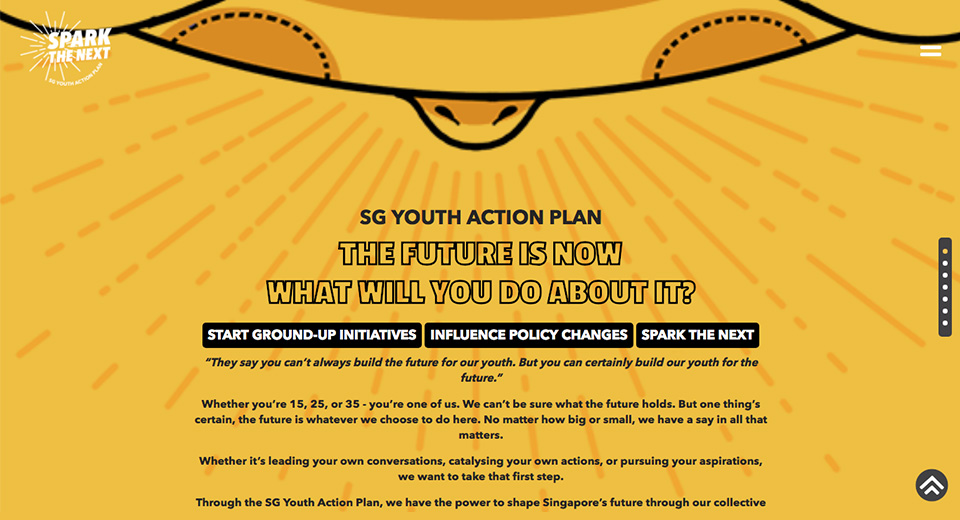Screengrab from YouthActionPlan.sg